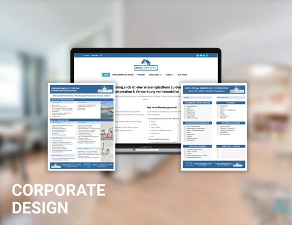 Corporate Design zur Vermarktung von Immobilien