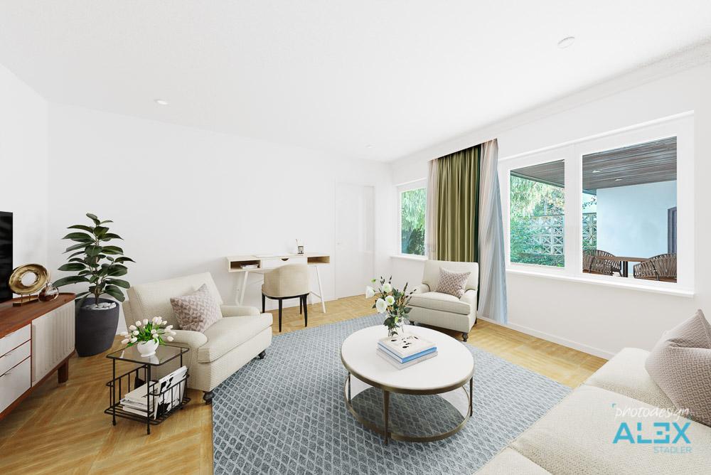 Digital möblierter Wohnraum - Digital Home Staging