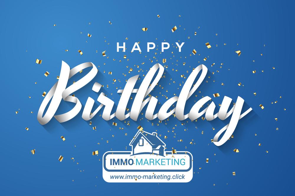 Happy Birthday Immo Marketing