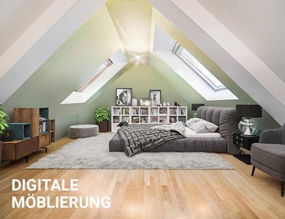 Digitale Möblierung einer Immobilie
