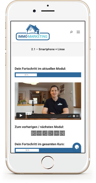 Video-Kurs - Immobilien selber filmen mit dem Smartphone - Immo-Marketing.click