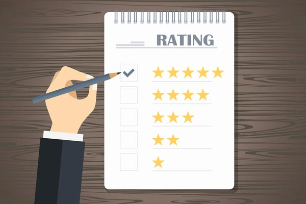 Offline Rezensionen zur Bewertung von Dienstleistungen